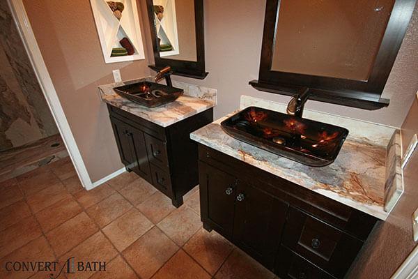 TruStone bathroom remodel
