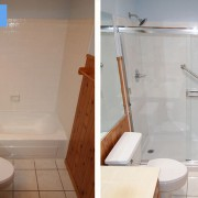 Bathtub and tile shower conversion