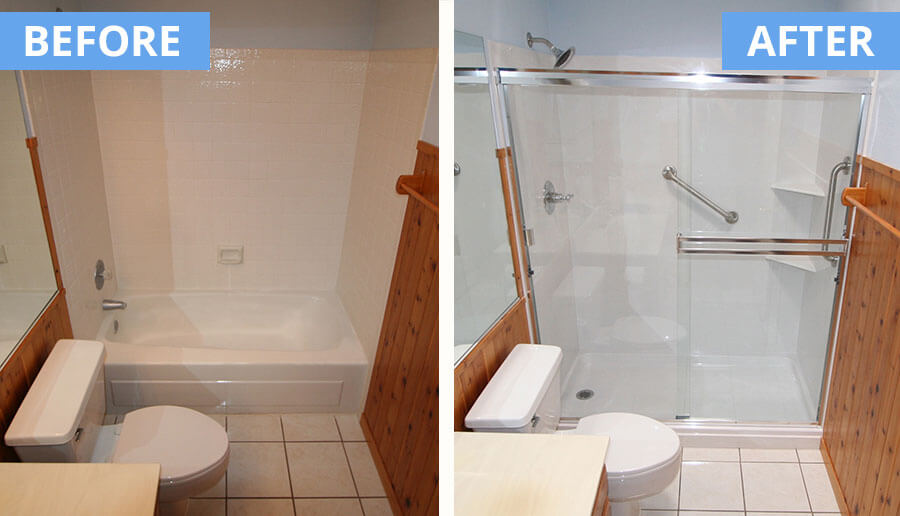Cultured Marble Gallery. Bathtub And Tile Shower Conversion ...