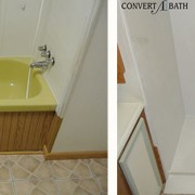 Bathtub to roll-in shower