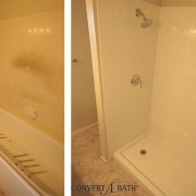 Bathtub to shower conversion