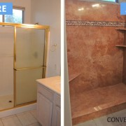 Caramel travertine with listelle