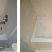Cracked fiberglass tub remodel