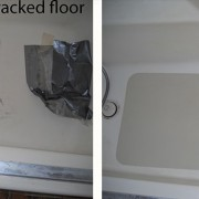 Cracked floor inlay repair