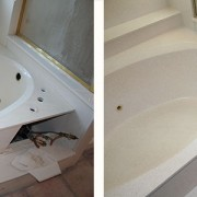 Cultured marble tub refinish and repair