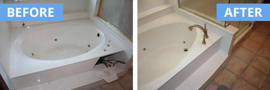 Cultured marble repair - Faux Granite Convertabath 174