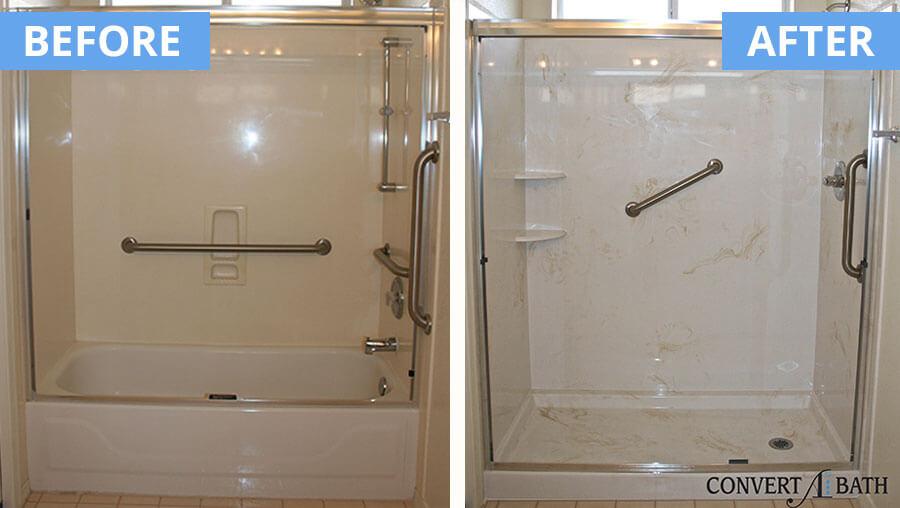 Cultured Marble Phoenix Az Part - 18: ... Cultured marble shower wih beige swirls ...