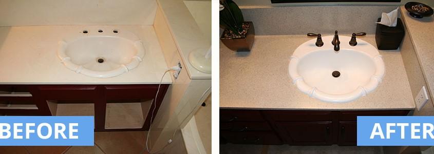 Faux granite vanity