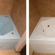 Fiberglass jetted tub refinish