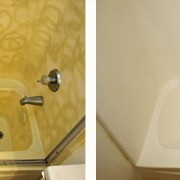 Fiberglass shower refinish