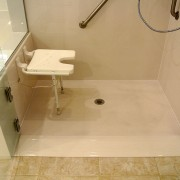 Handicap shower with seat