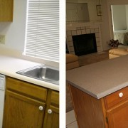Laminate kitchen counters with faux granite