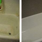 Refinished tub and tile surround