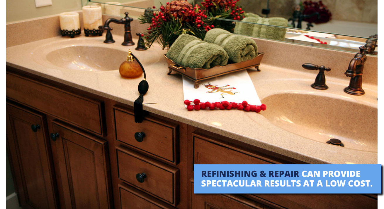 Bathroom and countertop refinishing in Phoenix, AZ