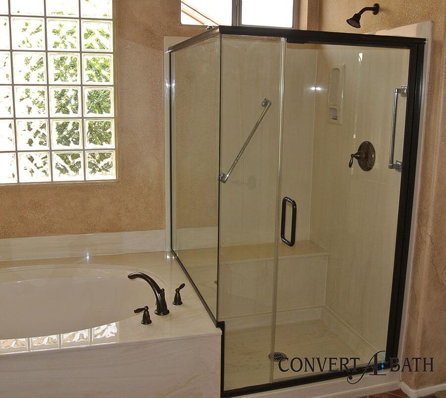 Semi Frameless Glass Convertabath 174