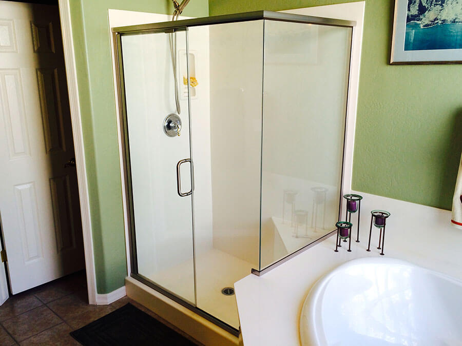 door pin panel enclosure semi shower frameless oil with glass rain