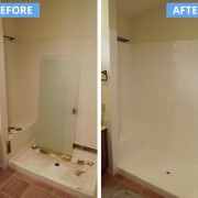 Tile shower refinish and repair