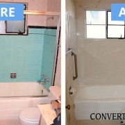 Tile surround and cast iron tub remodel
