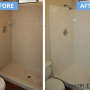 Tile to cultured marble conversion
